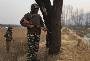 A trooper of the CRPF was martyred and two personnel suffered severe bullet injury in a suicide attack carried out by JEM