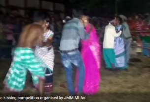 Kissing contest and we talk of teaching to the next generation. Shocker from Jharkhand by Jharkhand Mukti Morcha (JMM).