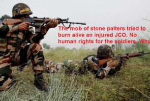 the crowd of stone palters tried to burn alive an injured JCO