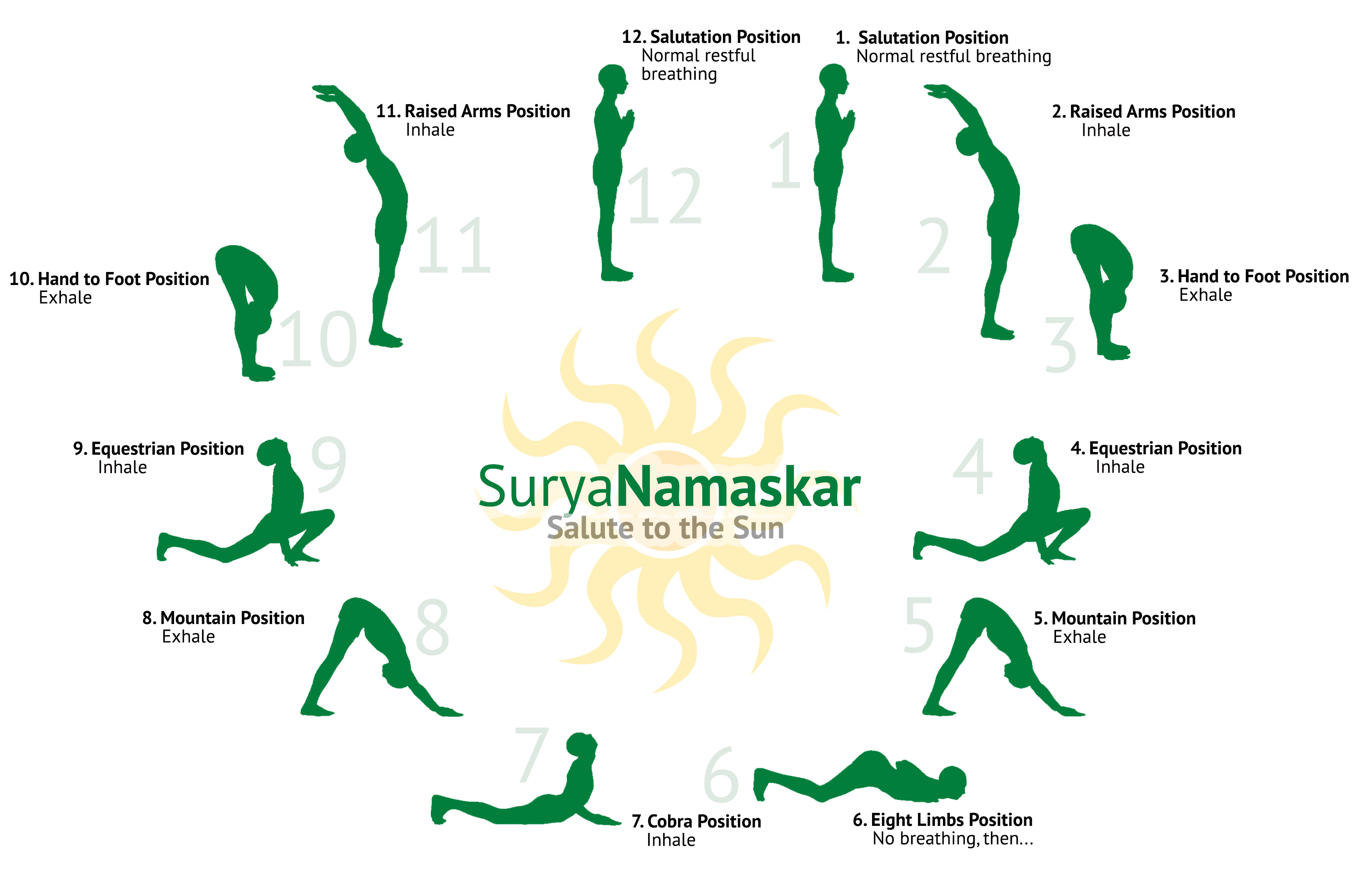 urya Namaskar or Sun Salutation is a technique from the ancient times.