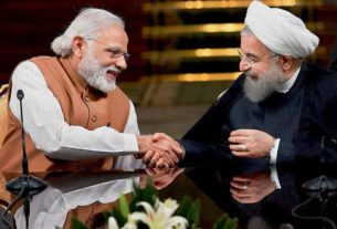 In the presence of Iranian President Hassan Rouhani and Prime Minister Narendra